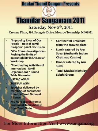 Thamilar Sangamam  2011