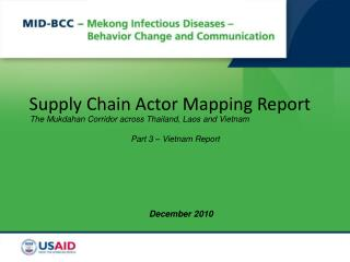 Supply Chain Actor Mapping Report