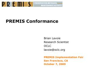 PREMIS Conformance
