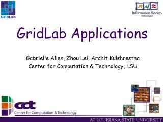 GridLab Applications