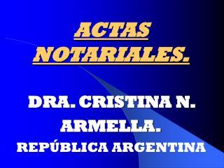 ACTAS  NOTARIALES.