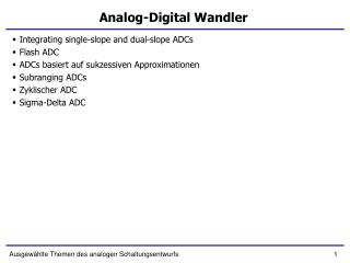 Analog-Digital Wandler