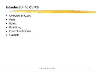 Introduction to CLIPS