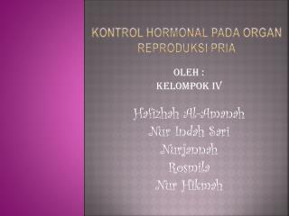 Kontrol  hormonal  pada  organ  reproduksi pria