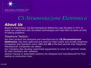 CS-Strumentazione Elettronica