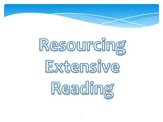 Resourcing Extensive Reading