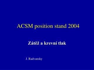 ACSM position stand 2004