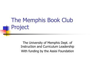 The Memphis Book Club Project