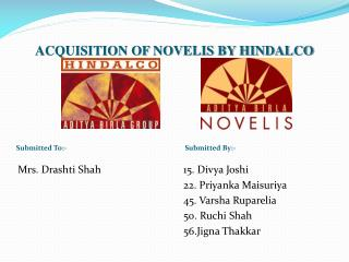 ACQUISITION OF NOVELIS BY HINDALCO