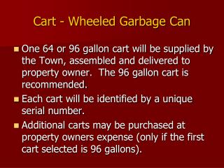 Cart - Wheeled Garbage Can