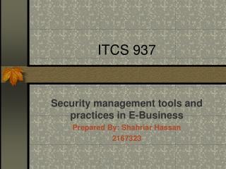 ITCS 937