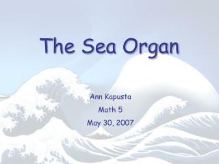 The Sea Organ