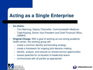 Acting as a Single Enterprise