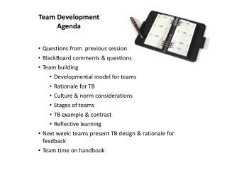 Team  Development Agenda