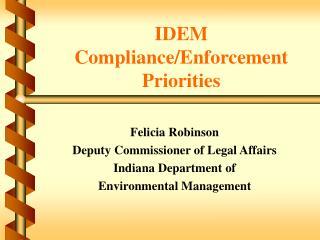IDEM Compliance