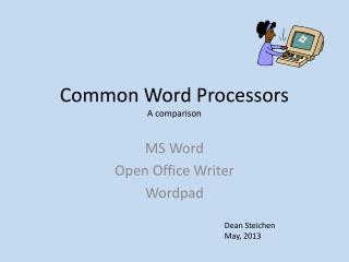 Common Word Processors A comparison