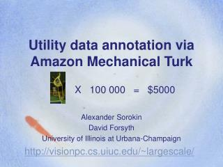 Utility data annotation via Amazon Mechanical Turk