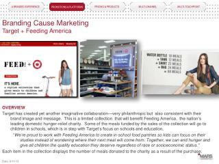 Branding Cause Marketing Target + Feeding America