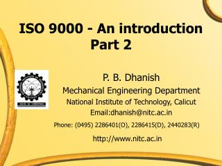 ISO 9000 - An introduction Part 2