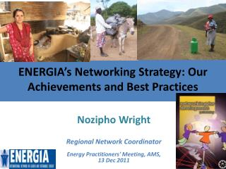 ENERGIA's Networking Strategy: Our Achievements and Best Practices
