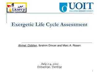 Exergetic Life Cycle Assessment