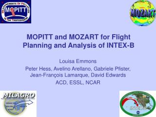 MOPITT and MOZART for Flight Planning and Analysis of INTEX-B