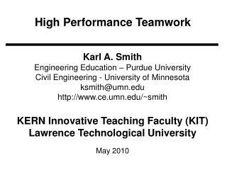 High Performance Teamwork