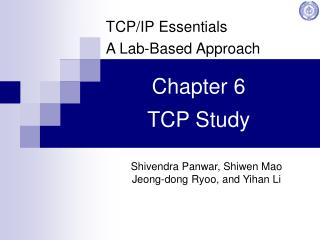 Chapter 6 TCP Study