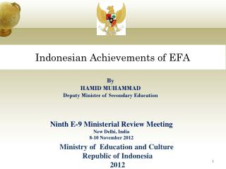 Indonesian Achievements of EFA