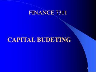 FINANCE 7311