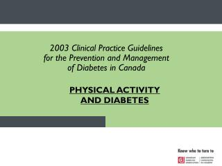 PHYSICAL ACTIVITY AND DIABETES
