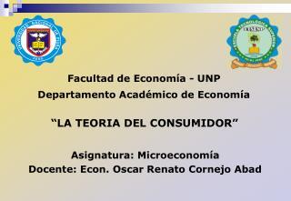Facultad de Economía - UNP Departamento Académico de Economía