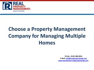 Choose  a Property Management  Company  for  Managing Multiple Homes