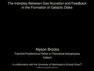 Alyson Brooks Fairchild Postdoctoral Fellow in Theoretical Astrophysics Caltech