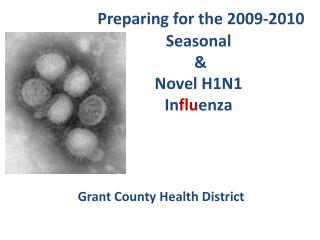 Preparing for the 2009-2010 Seasonal  & Novel H1N1  In flu enza Grant County Health District