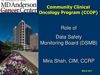Community Clinical Oncology Program (CCOP)