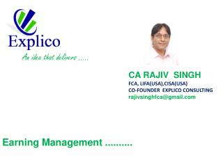 Earning Management ..........
