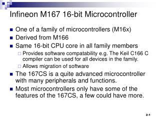 Infineon M167 16-bit Microcontroller