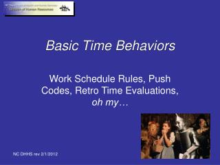 Basic Time Behaviors