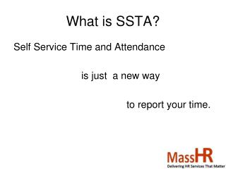 What is SSTA?