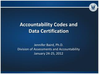 Accountability Codes and  Data Certification