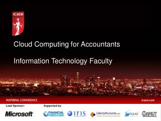 Cloud Computing for Accountants Information Technology Faculty