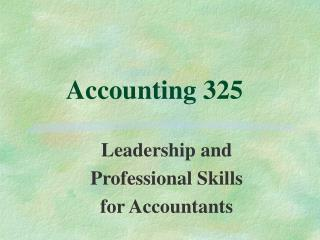 Accounting 325