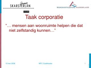 Taak corporatie