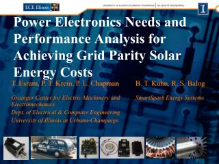 Power Electronics Needs and Performance Analysis for Achieving Grid Parity Solar Energy Costs