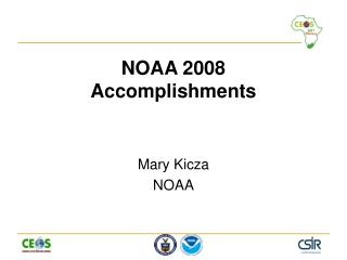 NOAA 2008 Accomplishments