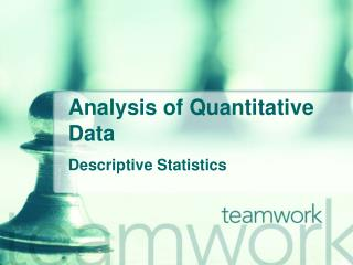 Analysis of Quantitative Data