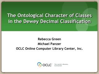 The Ontological Character of Classes  in the Dewey Decimal Classification