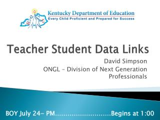 Teacher Student Data Links