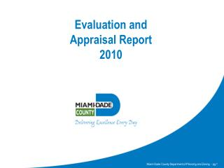 Evaluation and  Appraisal Report 2010